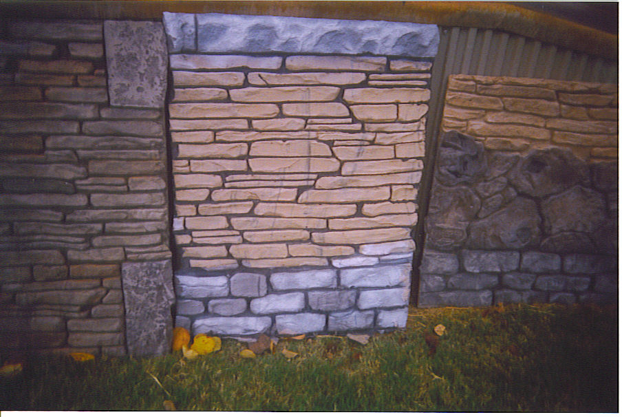 Vertical Stamped Concrete Amp Faux Stone Pictures